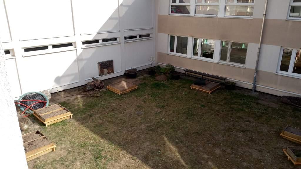 Ein Grünes Klassenzimmer der Ludwig-Beck-Schule
